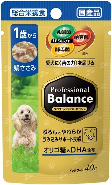 プロフェッショナル・バランス パウチ 1歳から成犬用 鶏ささみ