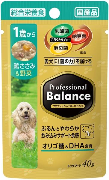プロフェッショナル・バランス パウチ 1歳から成犬用 鶏ささみ&野菜